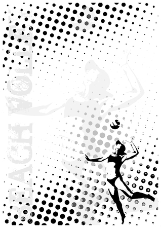 volleyball dots poster background