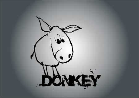Donkey Vector Vector