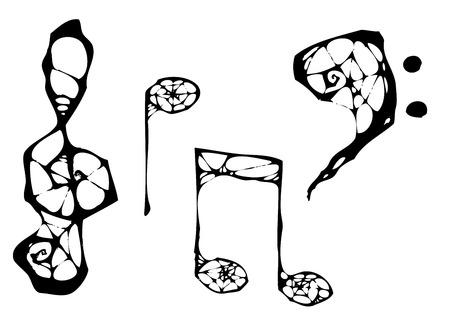 music symbols: spider music symbols
