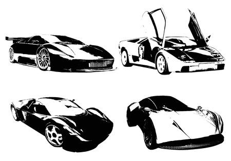 sports cars: prefect cars B Illustration