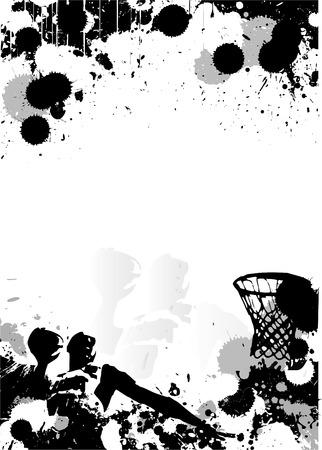 basketball poster background Vector