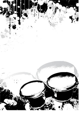 drums poster background Stock Vector - 6423681