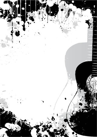 contrasts: classical guitar poster background