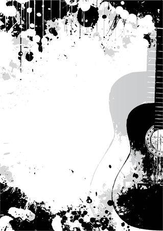 guitarra clásica: Fondo de p�ster de guitarra cl�sica Vectores