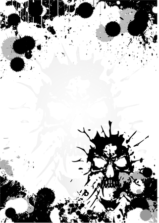 skull poster background Vector