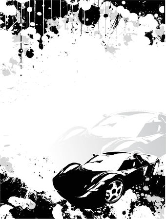 contrasts: car poster background