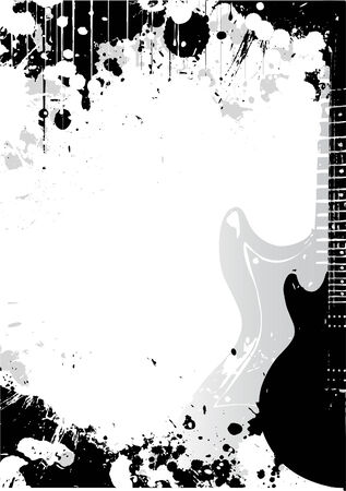 contrasts: guitar poster