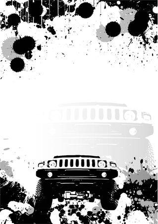 offroad poster background in vectors Vector