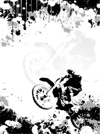 Motor cross poster achtergrond