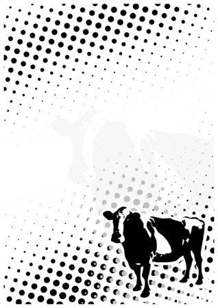 stockexchange: Cow Dots Poster Background Illustration