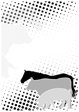 stockexchange: Livestock Dots Poster Background