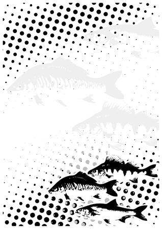 Fishes Dots Poster Background Stock Vector - 6423707