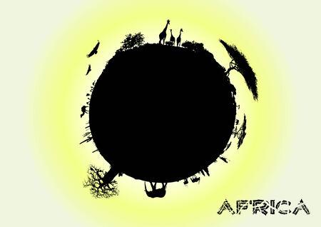africa earth Vector