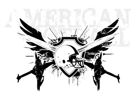 american football wings Vector