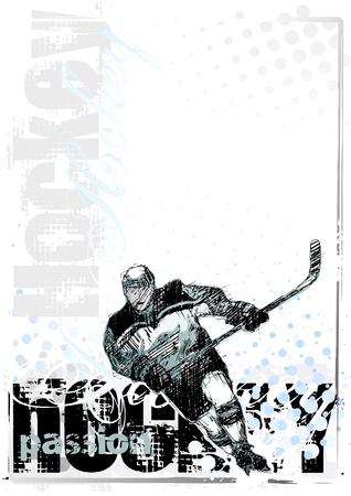 headpiece: ice hockey background 2 Illustration