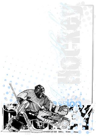hockey ice: ice hockey background 3 Illustration
