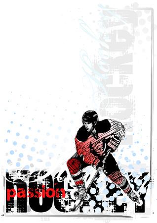 headpiece: ice hockey background 1 Illustration