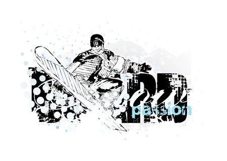 snowboarding  Stock Vector - 6462864