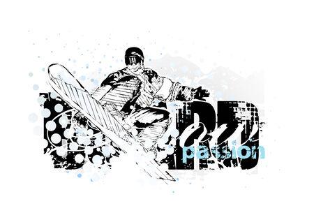 snowboarding Stock Vector - 6462864