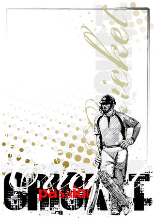 cricket background 2 Vector