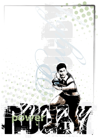 rugby background 3 Illustration