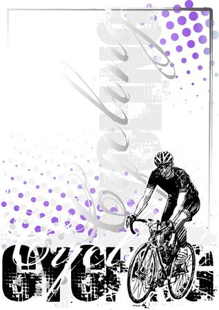 radfahren: Radfahren Hintergrund 1 Illustration