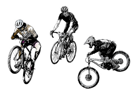 exercise bike: biking trio