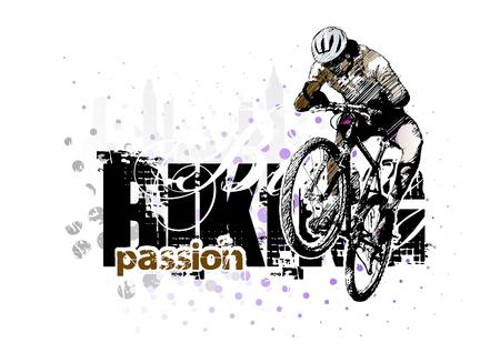 biking background 3 Illustration