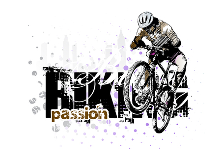 racing bike: biking background 3 Illustration