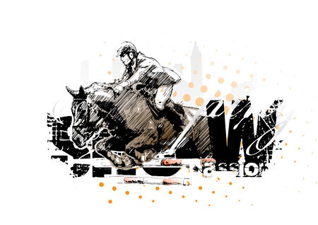 show jumping 1 Vector