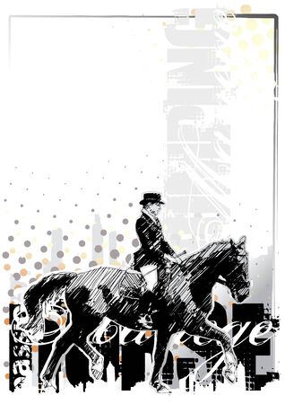 horse show: horse background 3 Illustration
