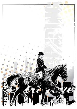manege: horse background 3 Illustration