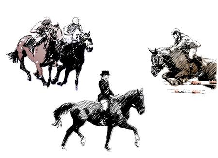 trío de caballo