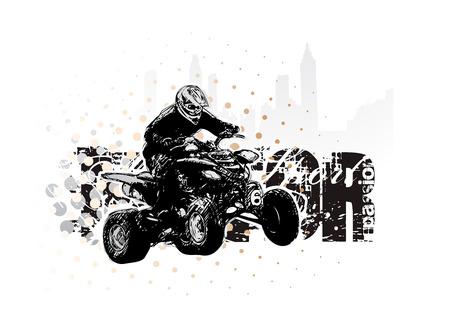 freeride: automovilismo  Vectores