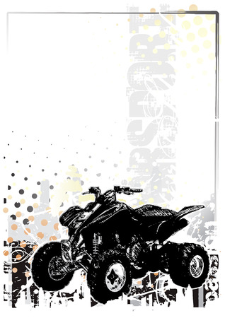 trail bike: motorsport  background 3 Illustration