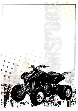 supercross: motorsport  background 3 Illustration