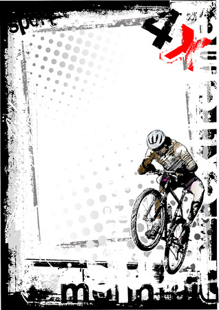 dirty bike 1 Stock Vector - 6839564