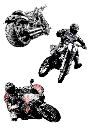 throttle: motorcycles trio