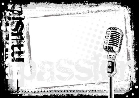 jazz club: arri�re-plan de microphone