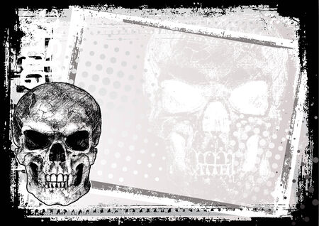 skull background Stock Vector - 7295328