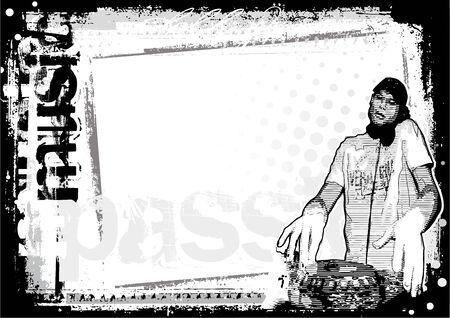 dj poster background Vector
