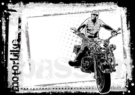 motorbike background Illustration
