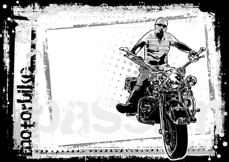 harley davidson motorcycle: motorbike background Illustration