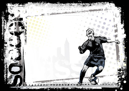 soccer boots: dirty soccer background Illustration