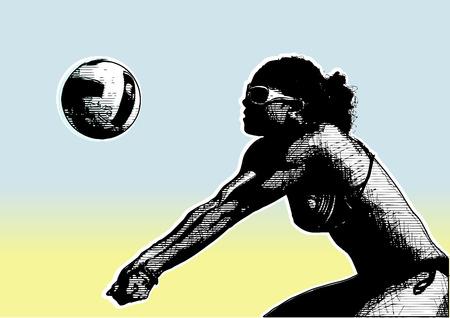 pallavolo: Beach volley sfondo 6  Vettoriali