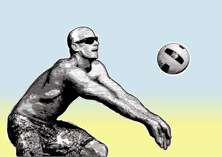 volley ball: beach volleyball background 5