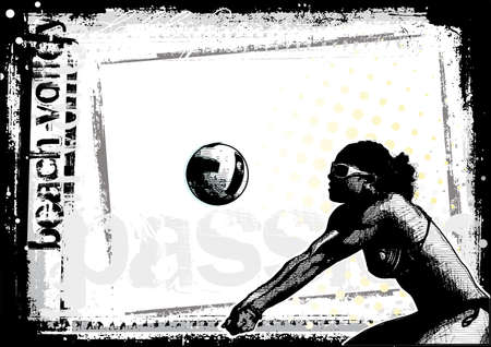beach volleyball background 4 Vector