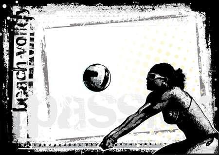 pelota de voley: Fondo de voleibol de playa 4