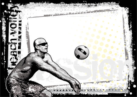 beach volleyball background 3 Vector