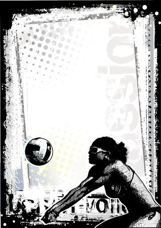 volleyball player: beach volleyball background 2